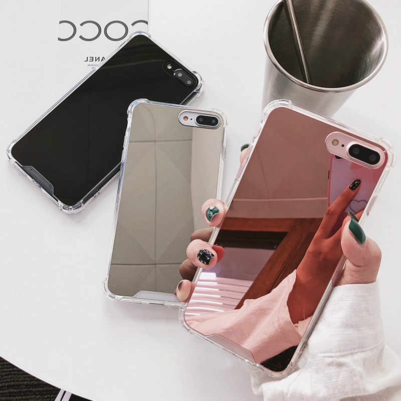 Mirror Effect Luxury Case For Samsung Galaxy Note 9 8 S9 S8 S10 PLUS Anti-knock Phone Case For iPhone X XS MAX XR 8 7 6 6S Plus