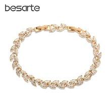 Женские браслеты с кристаллами и листьями Браслеты mujer bracciale