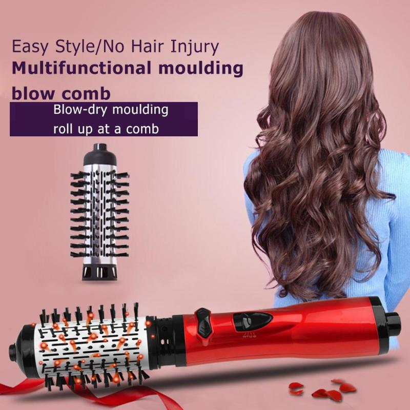 Professional Hair Combs Multifunction Hair Dryer Volumizer Rotating Hair Brush Roller Curling Irons Salon Hair Care Styling ToolProfessional Hair Combs Multifunction Hair Dryer Volumizer Rotating Hair Brush Roller Curling Irons Salon Hair Care Styling Tool