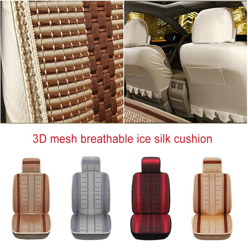 Cushion Cooling Seat Breathable Universal Car Summer for All-Seasons 4-Colors Ice-Silk