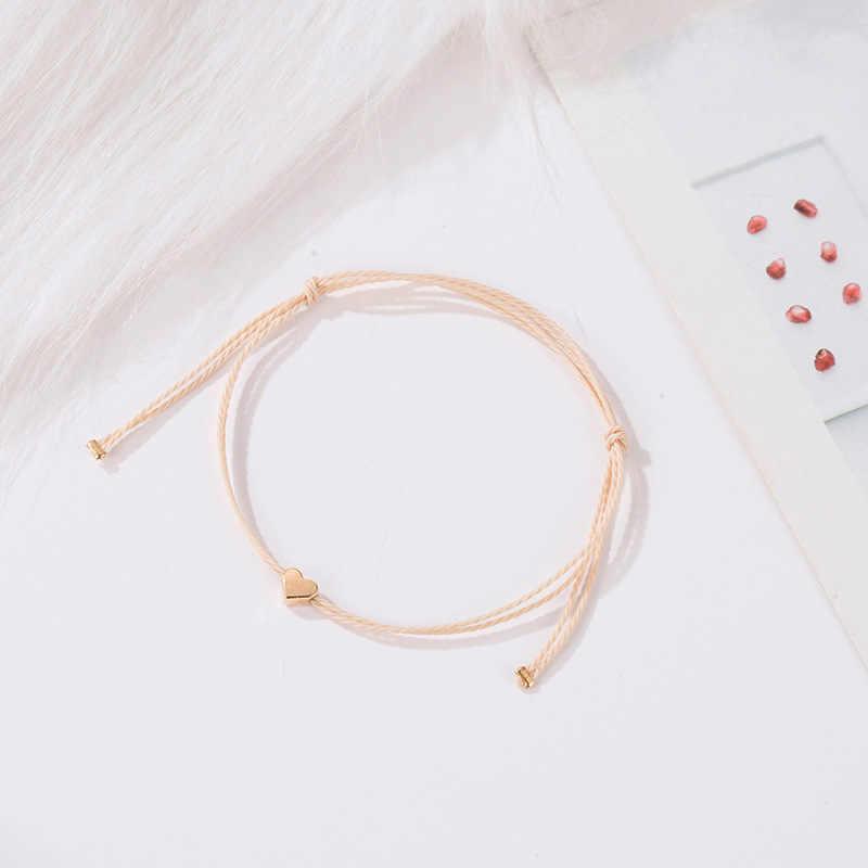 Moda ajustable doble cristal Corazón de melocotón abertura del puño pulsera para damas exquisita pulsera joyería Envío Directo