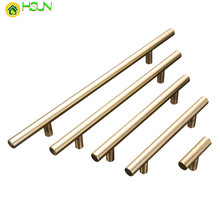 цены 1 pc Aluminum T Shape  Cabinet Pulls Gold Handle for Drawer Cupboard Furniture Handles Pull Knob Hardware