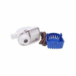 Image 5 - Bomba de agua eléctrica sumergible automática para barcos, bomba de agua pequeña de 12 v y 24v, 750gph 1100gph, Envío Gratis