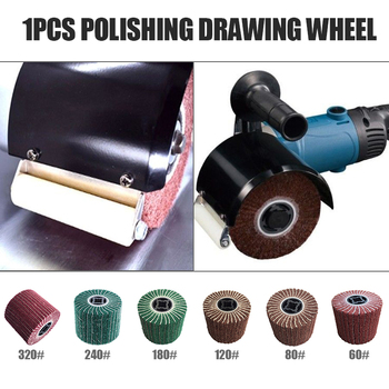 цена на 60/80/120/180/240/320  Grit Abrasive Polishing Wheel Non-woven Nylon Flap Wheel Brush Wire Drawing Polishing Burnishing Wheel