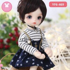 Image 2 - ตุ๊กตา Bjd SD 1/6 สีชมพูหรือ white lattice เสื้อยืดและกางเกงยีนส์สีดำน่ารักสำหรับ Yosd ตุ๊กตาอุปกรณ์เสริม