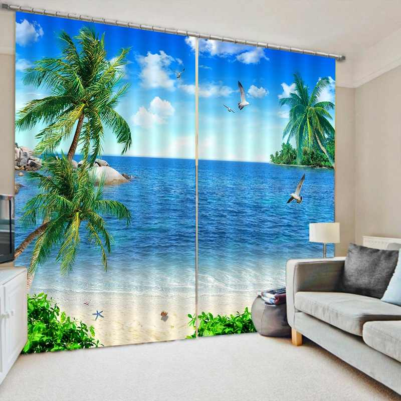 Modern Blackout Curtains For Bedroom Window Curtains For Living Room 85% Shading 3D