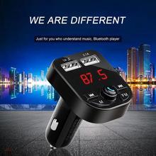 Reproductor de MP3 Bluetooth para coche P3 proporciona encendedor de cigarrillos cargador de coche Pl receptor montado en el vehículo 1A + 3.1A