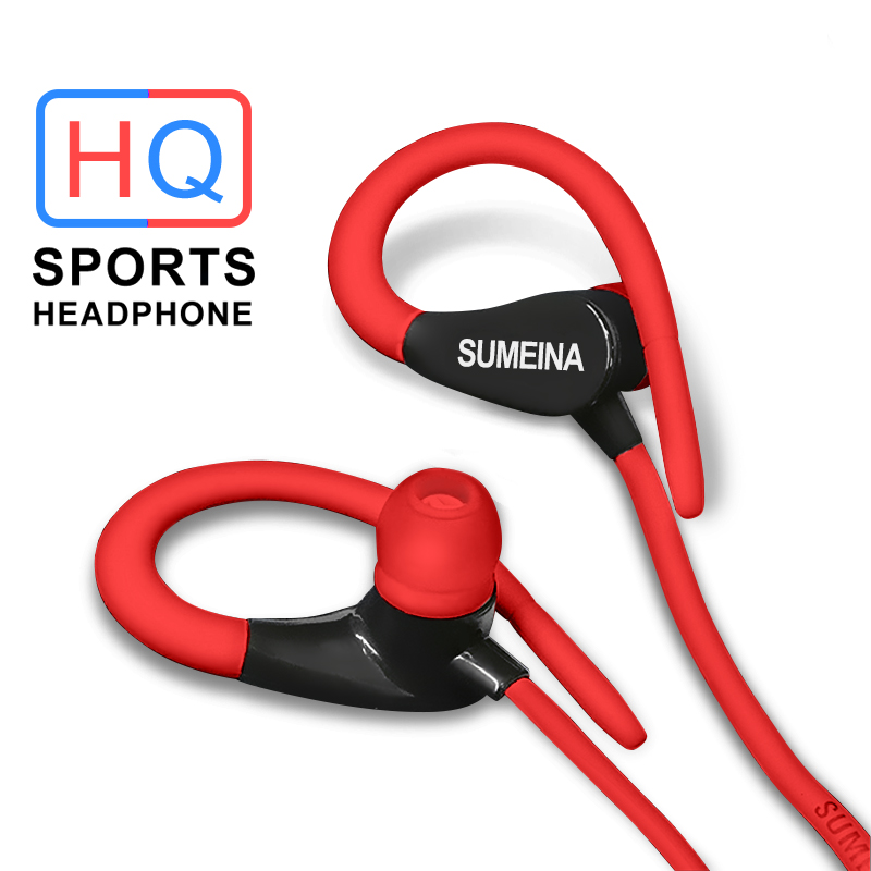 Auriculares con cable con micrófono deportes auriculares portátil cuello auriculares para iphone móvil Android xiaomi teléfono no Bluetooth