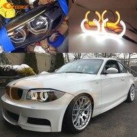 For BMW 1 Series E82 E88 E87 E81 2008 2009 2010 2011 Xenon headlight DTM Style LED Angel Eye Kit Dual White Amber switchback