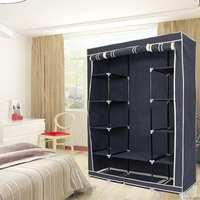 1Pcs Modern Non woven Cloth Wardrobe Storage Cabinet DIY Fold Portable Storage Cabinet Multifunction Dustproof Closet