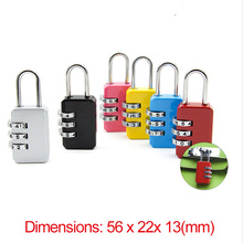 Сбрасываемый 3 набора цифр комбинации чемодан пароль висячий кодовый замок дорожные сумки замок безопасности девушка как