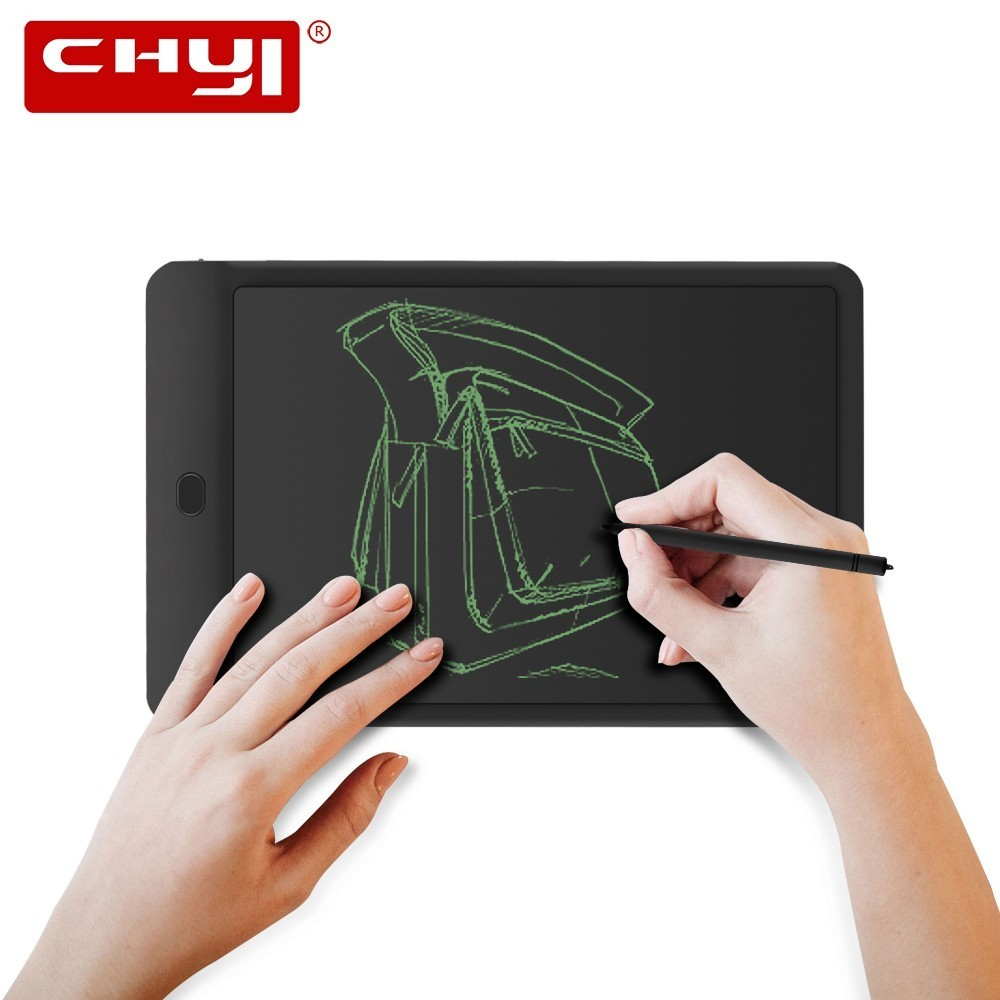 CHYI 10 Inch LCD Writing Tablet Portable Digital Drawing Memo Board Electronic Mini Handwriting Pad Graphic Tablet For Kids Gift