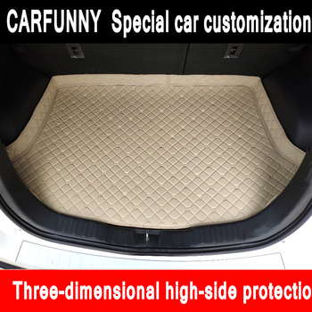 Custom fit car Trunk mats for Nissan altima Rouge X-trail Murano Sentra Sylphy Tiida 5D  carpet floor liner