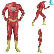 3D printing Adult Kids Anime The Flash Cosplay Costume Zentai Bodysuit Suit Jumpsuits  halloween costumes for men цена