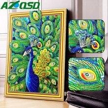 AZQSD Diamond Mosaic Peacock Special Shaped 5D DIY Picture Of Rhinestones Painting Animals Home Decor 30x40cm /40x50cm