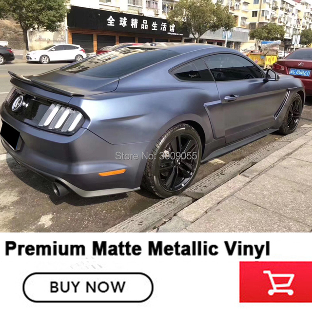 2018 New Matte Metallic Wrapping Film Blue Pearl Metal Wrap Car