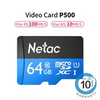 64GB Class 10 TF Card Flash Micro SD Card for Smart Phone Memory Card and CCTV Camera & DVR Mass Data Storage High Speed 100MB/S