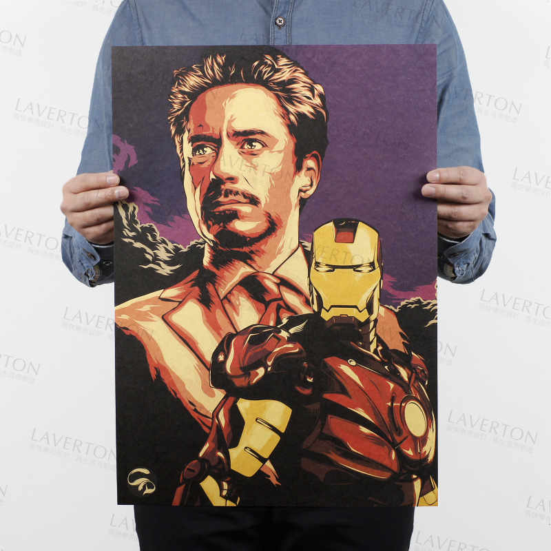 Marvel Iron Man Avengers 4 Vintage Kraft Paper Classic Movie MARVEL Poster Home Decor Art Office School DIY Retro Prints Boy Toy