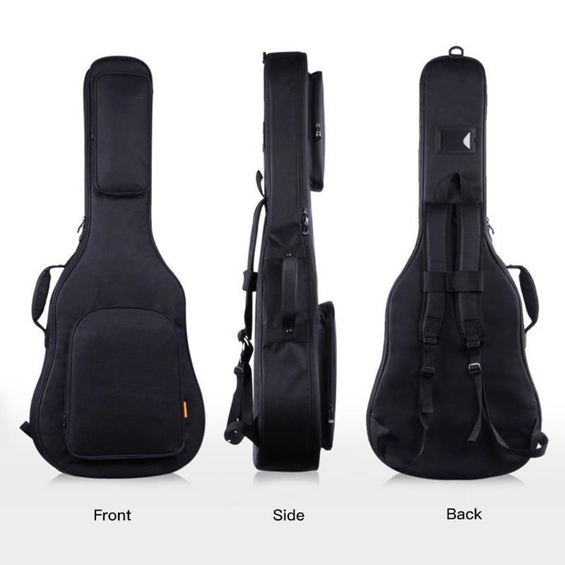 IRIN 39/40/41 Inch Acoustic Classical Guitar Bag Case Backpack Adjustable Shoulder Strap Portable Thicken Padded BlackIRIN 39/40/41 Inch Acoustic Classical Guitar Bag Case Backpack Adjustable Shoulder Strap Portable Thicken Padded Black