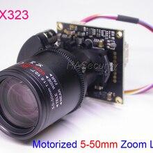 """AHD-H/CVBS моторизованный 5-50 мм зум и Автофокус Объектив 1/2. """" sony IMX323 NVP2440 CCTV камера Модуль платы блока программного управления+ OSD кабель(UTC"""