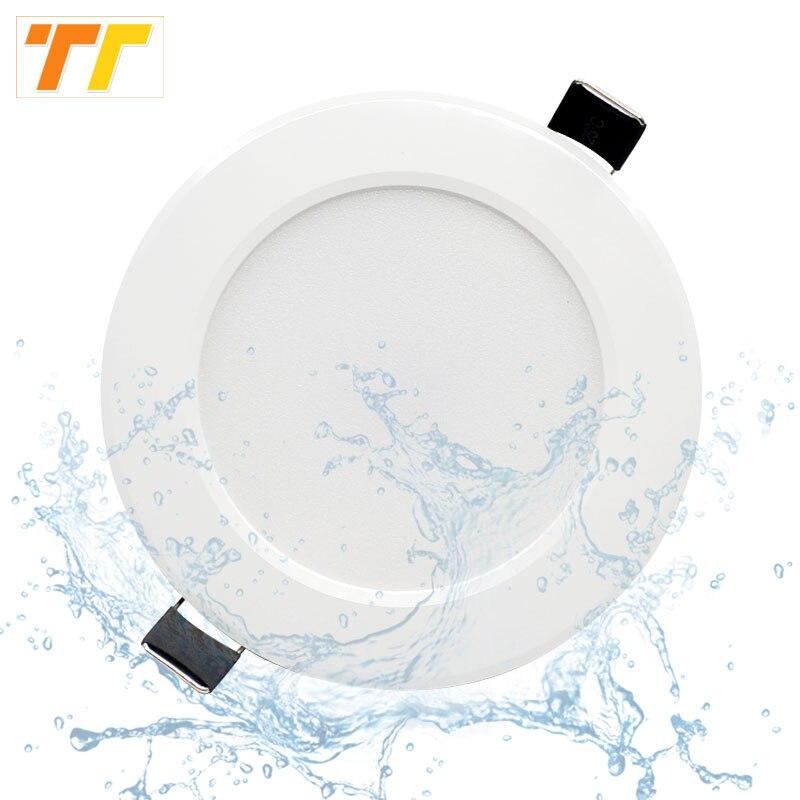 Dimmable LED étanche encastré Downlight 5W 7W 9W 12W 15W LED Spot plafonnier éclairage à la maison AC 220V pour lampe de salle de bain