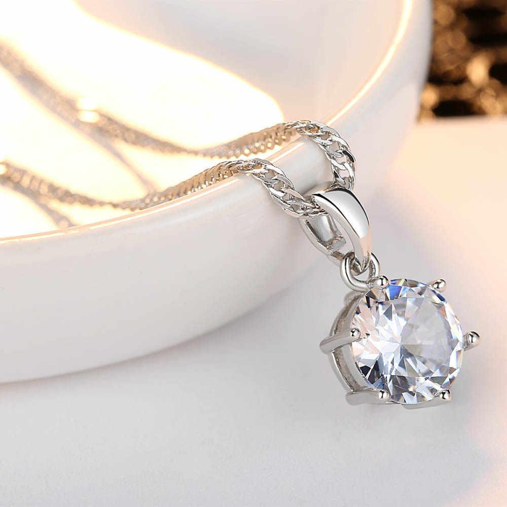 Классический Серебряный Кристалл Ожерелье для женщин свадебный подарок женский кулон Бархатный чокер с красным камнем Jewelry2019 Новая мода оптовая продажа
