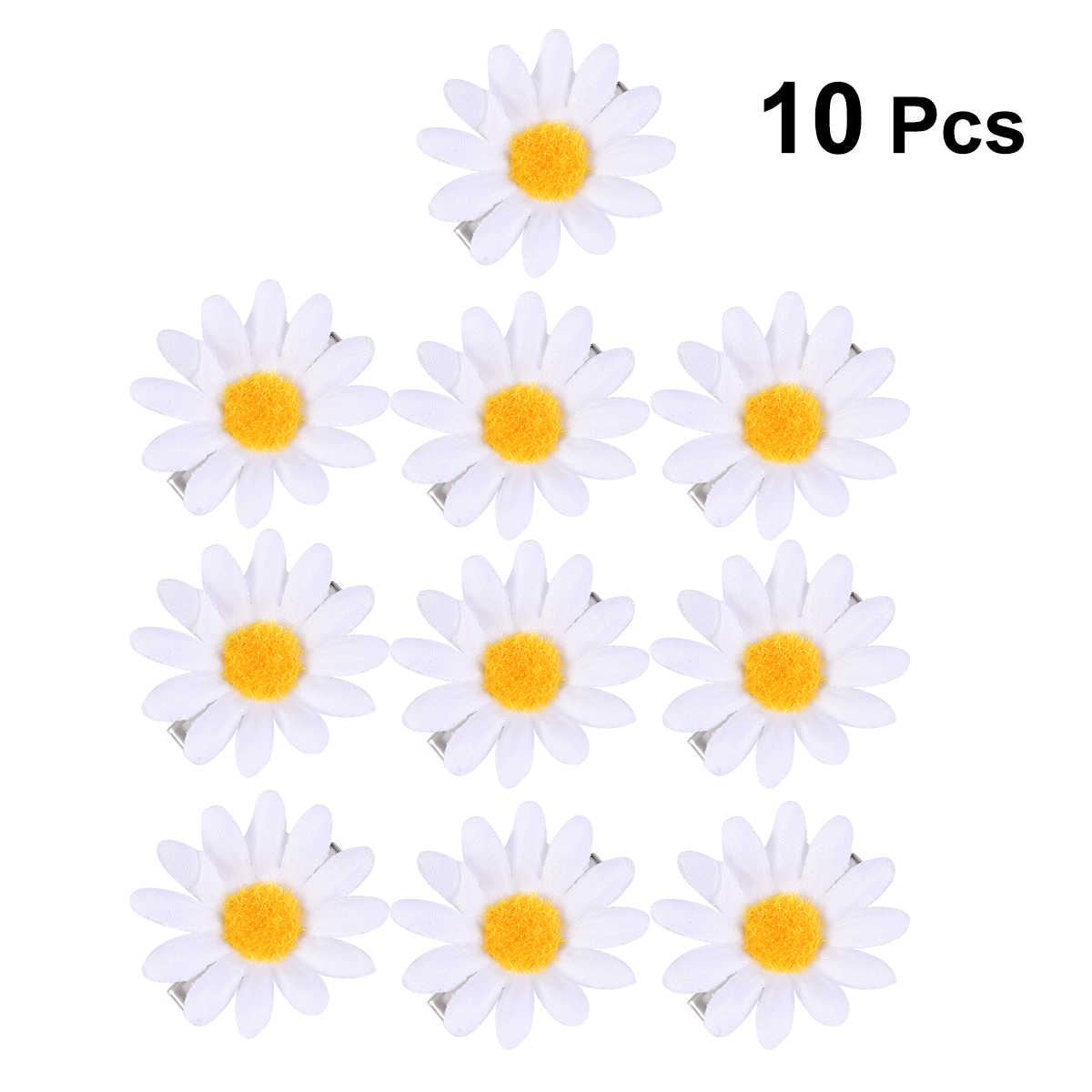 10pcs Hair Clips Cute Sunflower Daisy Decorative Hair Accessories Hair Barrettes Hair Pins for Women Ladies Girls