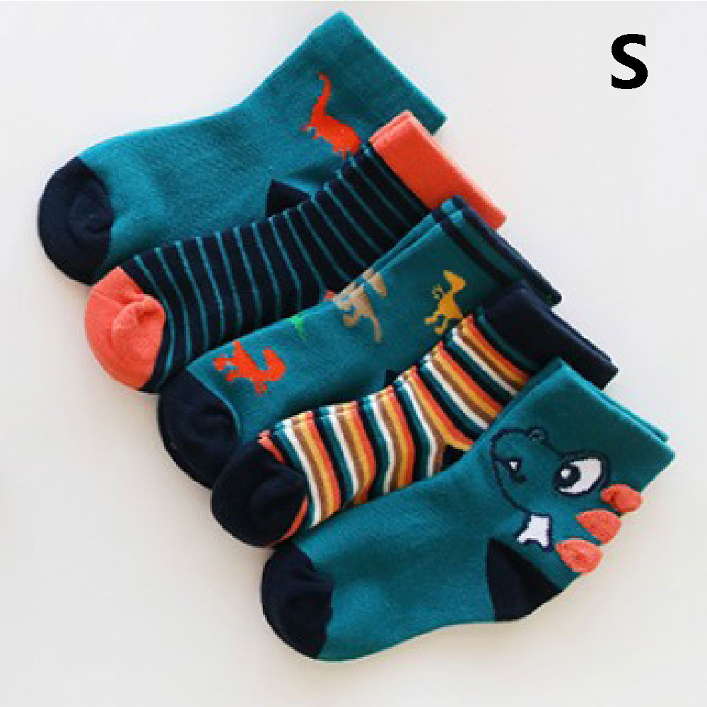 1 Pair Baby Boy Dinosaurs PatternChildren Socks Soft Cotton Infant Socks Cute Cartoon Pattern Kids Socks For Baby Girls