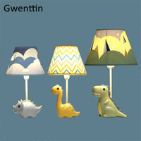 Cartoon Dinosaur Table Lamps for Bedroom Lamps Bed Light Bedside Lamps for Study Children's Gift Modern Led Lights Fixture Decor