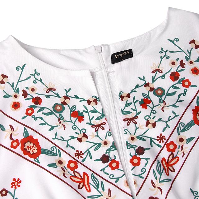 Women Vintage Print Dress