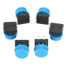 20pcs 4Pin Blue Tactile Push Button Switch Momentary Tact Caps Used in the Field