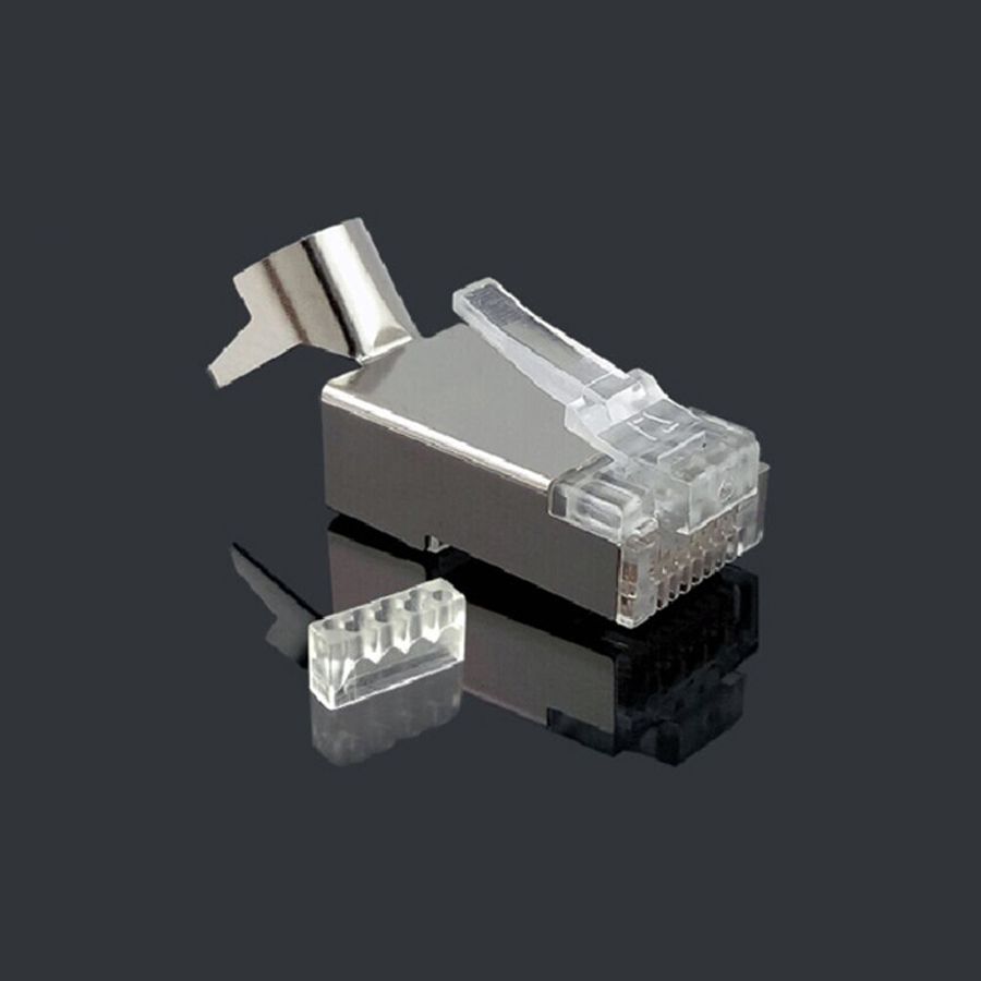 Image 5 - xintylink rj45 connector rj 45 ethernet cable plug cat7 cat6a 8P8C stp shielded cat 7 network terminals 1.3mm 10pcs 50pcs 100pcs-in Computer Cables & Connectors from Computer & Office