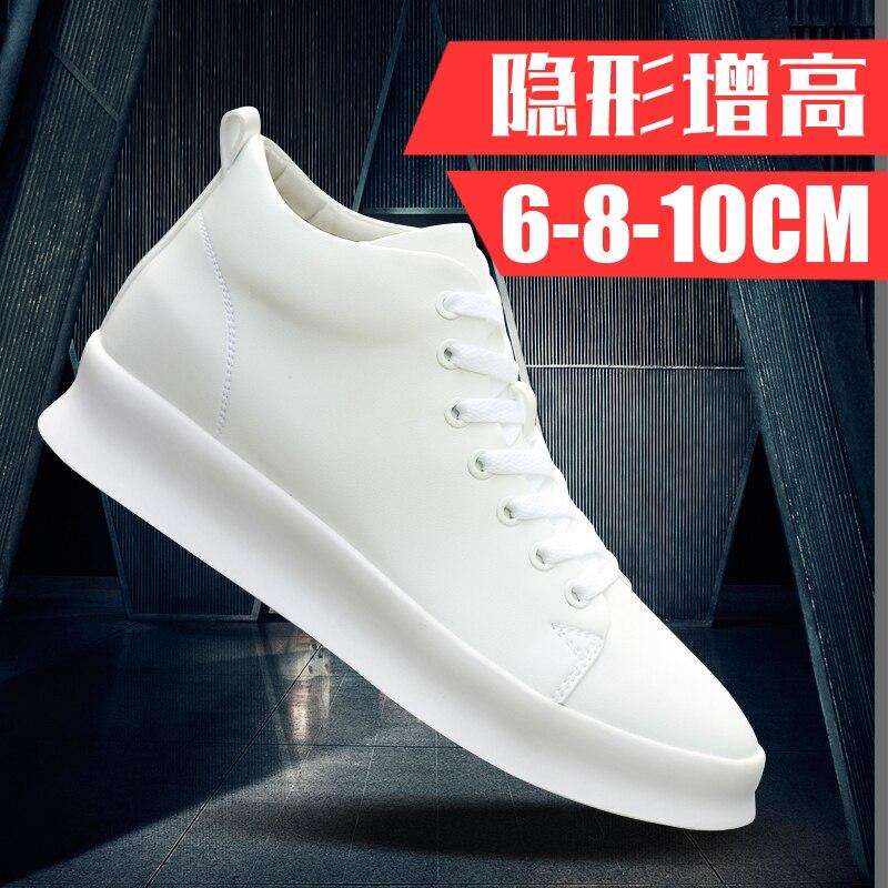 Do Coreana 6cm8cm Sapatos Invisível Selvagem Versão 10 Aumento Casuais Brancos Centímetros Aumentar Homens Preto Masculino Tendência Juventude BwYSgXqXO