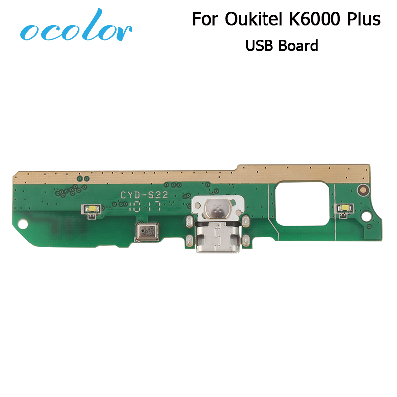 Ocolor For Oukitel K6000 Plus USB Board For Oukitel K6000 Plus Replacement Parts Accessory USB Plug Charge Board High Quality