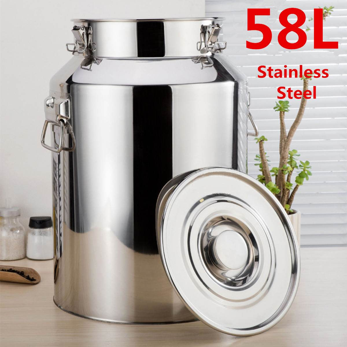 58L (35X60cm) Stainless Steel Fermenters Wine Fermented Beer Fermenters Milk Barrel Sealing High Quality Oil Barrel Tea Canister(China)