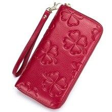 Ms. Mobile Wallet Rfid Clutch Bag Long Zipper Leather Korean Version Large-Capacity