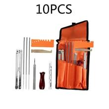10pcs Chainsaw Sharpening Kit Files Tool Chain Sharpen Saw Garden Tools Parts Set Mayitr