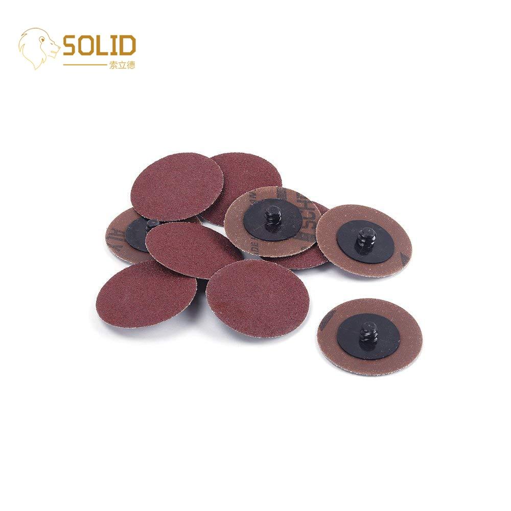 "50Pcs 1/"" Roloc R Type Surface Conditioning Polishing Discs Threaded Twist Lock"
