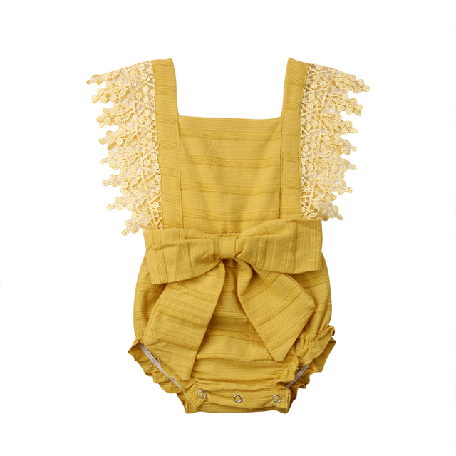 Baby Girl Lace Sleeveless Romper Jumpsuit