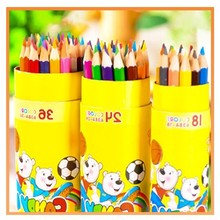NEW 36 student bear painting 638A barrel pencil lead color pencils school stationery Affordable