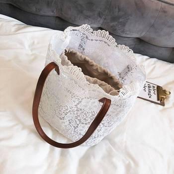 Women Single Strap Lace Pattern Lady Shoulder Bag    1