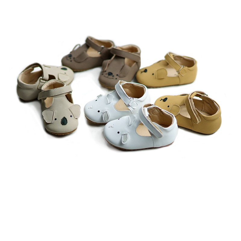 Cartoon Animal Baby Shoes Cute Koala Baby Girls First Walkers Non-slip Hard Bottom Boys Casual Shoes