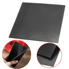 Black Square Rubber Sheet Pad 152*152*3mm Rubber Plate Matt Chemical Heat Resistance High Temperature 500 degree centigrade mold mould heat shield glass fibre sheet high temperature plate insulating base board all size in stock