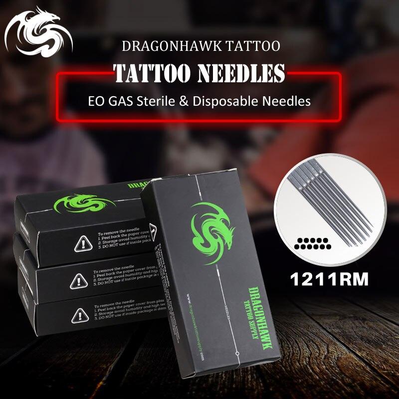 Caixa de Pcs Premade Esterilizado Tatuagem Agulhas Abastecimento