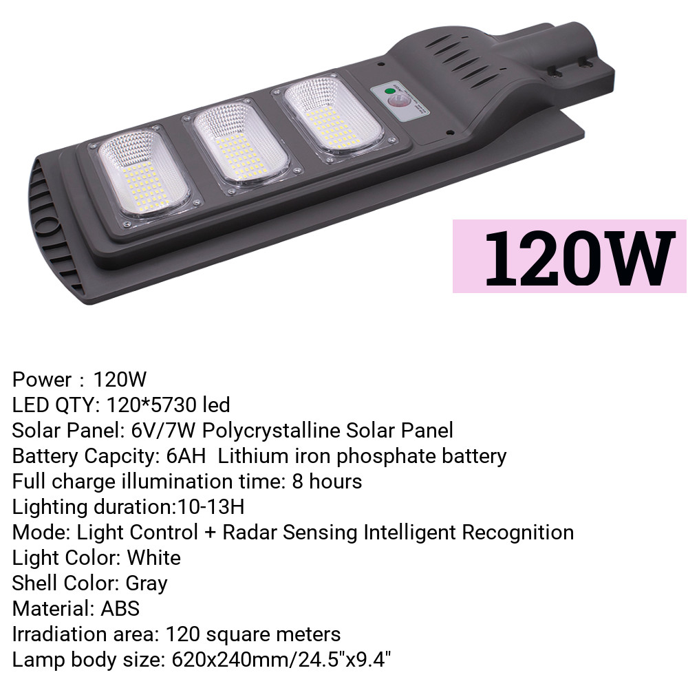 120W LED Solar Street Light Wall Lamp Light Control+Radar Induction+Timing Outdoor Lamp Waterproof Security Lamp for Garden Yard120W LED Solar Street Light Wall Lamp Light Control+Radar Induction+Timing Outdoor Lamp Waterproof Security Lamp for Garden Yard