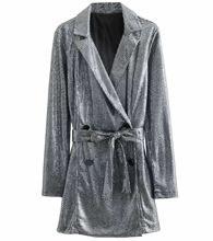 7615f22345f 2019 Spring New Women Silver Sequins Sexy Rompers Fashion Double Breasted  Sashes Blazers Romper Casual Loose Jumpsuit