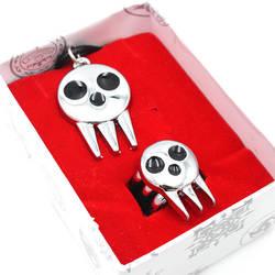 Аниме Soul кольцо Eater Ожерелье Косплей Кулон из металла унисекс аксессуары к костюму для Косплей кольцо, кулон с box set модные подарки