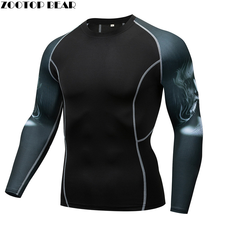 Simple Male Mma Compression Tee Rash Guard Men T -Shirt Quick Dry Breathable Elastic Tight Weight Lifting Crossfit Top Fitness