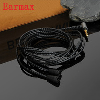Earmax 3.5mm For IE80 Earphone Upgraded Cable OCC Silver Plating HIFI Audio Cable Wire For Sennheiser For IE80 IE8 IE8I UTP 1.2M