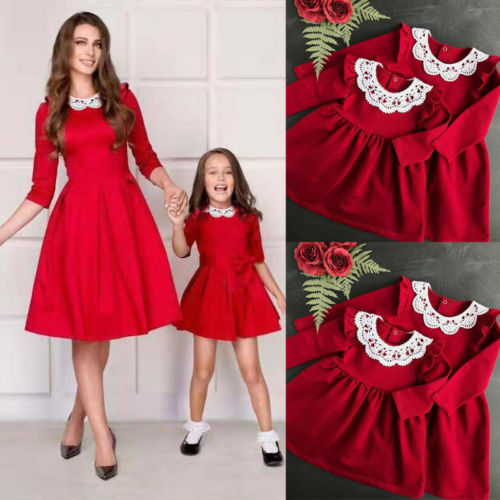 2019 Christmas Family Match Red Dress